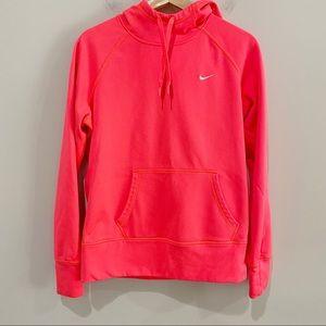 NIKE Neon Therma-Fit Hooded Sweatshirt